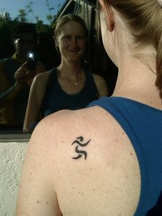 running tattoos - if I ever cowboy up and get a tattoo, this would be the one!