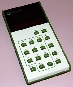 Vintage Rockwell Model 9TR Electronic Pocket Calculator, LED Display, Made In Mexico, Circa 1975 - 1976.