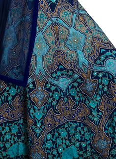 Indian Fashion Designers - Siddartha Tytler - Contemporary Indian Designer Clothes - Lehengas - ST-SS14-BA13-LHNG-008 - Opulent Navy and Turquoise Lehenga
