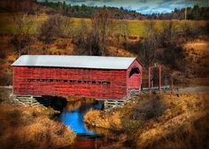 Covered Bridge Wakefield by ppolgar, via Flickr