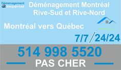 Demenagement Montreal vers Quebec http://www.demenagement-montreal.ca/
