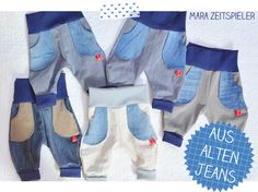 Baby Clothing Upcycling: Children pants from old jeans ~ Mara time player Baby ClothingSource : Upcycling: Kinderhosen aus alten Jeans ~ Mara Zeitspieler by Sewing Kids Clothes, Sewing For Kids, Baby Sewing, Diy Clothes, Altering Jeans, Fabric Purses, Old Jeans, Jeans Pants, Baby Leggings