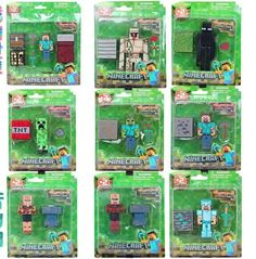Retail Minecraft Toys 3-4 Inch Minecraft Stone Bed Box Sword Pickaxe And Steve Fun Collectible Action Figures Model Toys, $2.91 | DHgate.com