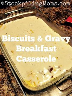 Biscuits & Gravy Breakfast Casserole is out of this world, mouth watering goodness! Perfect for Christmas morning or any holiday!(Favorite Pins Sausages)