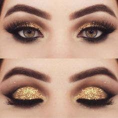 Gold Eyeshadow | Colorful Eyeshadow Tutorials For Brown Eyes