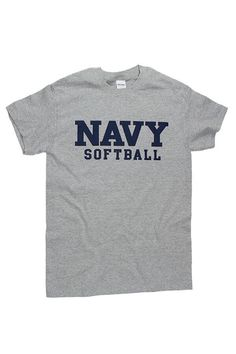 Block NAVY Softball T-Shirt (grey)