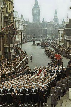 The funeral of Winston Churchill, January 1965 Winston Churchill, Churchill Quotes, London History, British History, World History, Uk History, Julius Caesar, Great Britan, Michael Jackson