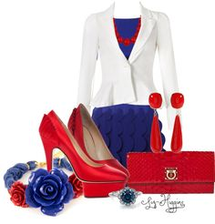 """""""Red White & Blue"""" by liz-higgins on Polyvore"""