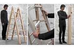 The smartest folding ladder          ギズモード・ジャパンより転載 : たためるハシゴは普通ですけど、これはもっとなんです。ハシゴは開いて使います。使わない時はたたん...