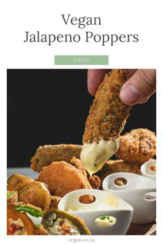 Today we are making Jalapeno Poppers 3 different ways. We try 2 different kinds of jalapenos (fresh & Pickled) We try 3 different kinds of coatings. And we make our own cream cheese using tofu! Vegan Jalapeno Poppers, Pickles, Fresh, Breakfast, Easy, Recipes, Food, Morning Coffee, Essen