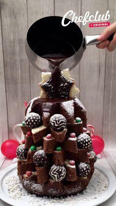 Fun Baking Recipes, Sweet Recipes, Dessert Recipes, Cute Desserts, Christmas Desserts, 24 Kitchen Filipa Gomes, Cakes That Look Like Food, Tasty Videos, Cake Decorating Videos