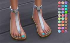 Trendy Toenail Polishes 2.0 at Veranka • Sims 4 Updates
