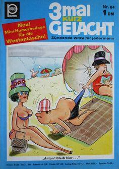 GCD :: Cover :: 3 mal kurz gelacht #84 Humor, Comics, Mini, Cover, Beach, Laughing, Jokes, The Beach, Humour