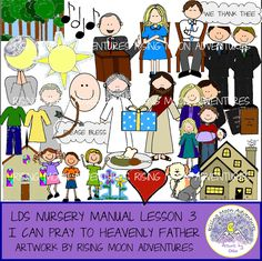 LDS Nursery Manual Lesson 3: I Can Pray to Heavenly Father by risingmoonadventures on Etsy