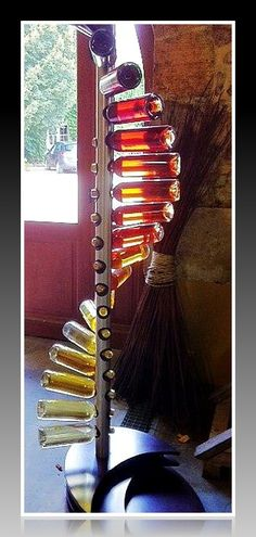 Here's an interesting way to display your wine as art. #Objetsdwine