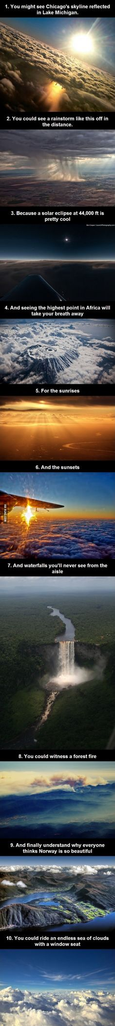 Why you should always try to get a window seat.