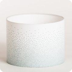 Abat-jour / suspension cylindrique tissu Poudre gris Ø40