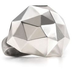 Elizabeth And James Silver Geodesic Large Dome Ring