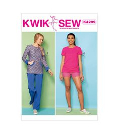 KWIK Extra-Small Shorts and Pants White Medium Boys Top Small SEW PATTERNS K3999 Size XXS Pack of 1