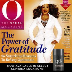 Toppik Hair Building Fibers are mentioned in the November issue of O Magazine! http://www.toppik.com/shop/toppik-regular