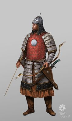 Mongol Elite Warrior by *HappyMorningStar