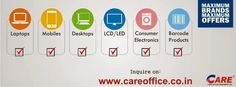 Careoffice.co.in has announced a Mega Sale on a mixture of electronic products. It is offering large discounts on Products which include Laptops, tablets, LED TV and accessories, T.V., Audio and Washing Machine and copier. Website home page has the option of finding the percentage of discount which is Presently being offered on the products available.