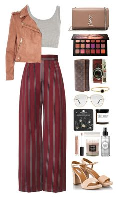 Untitled #470 by emmeleialouca on Polyvore featuring Topshop, River Island, Fratelli Karida, Yves Saint Laurent, Louis Vuitton, Marc Jacobs, Gucci, Huda Beauty, Smashbox and Leica