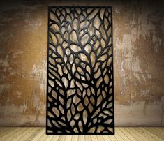 Laser cut screen Autumn design www.milesandlincoln.com