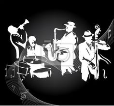 Art Print of Jazz band. Jazz musicians on a black gradient background. Jazz Concert, Free Art Prints, Jazz Band, Home Decor Wall Art, Hobbies And Crafts, Art Music, Blue Backgrounds, Clipart, Art Images