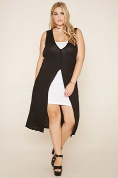 Plus Size Layered Split-Front Dress | 2017 | Pinterest | Layering