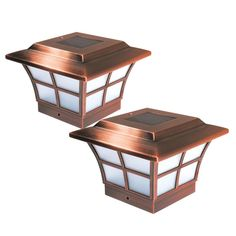 Classy Caps Prestige 4 in. x 4 in. Outdoor Electroplated Copper LED Solar Post Cap – The Home Depot - Modern