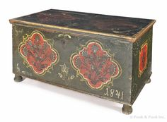dower chest, continental, dated 1841
