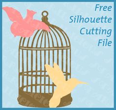 A caged bird- Free sillhoute download