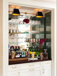 Small Bar Area In A Home Office Space. Malachite Design Ideas, Pictures,  Remodel And Decor