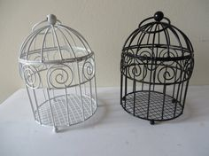 Mini birdcage centerpieces - photo#52