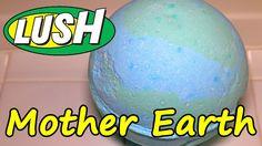LUSH - Mother Earth Mondo XXL Bath Bomb DEMO - Underwater - REVIEW - SLO...
