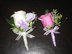 Wedding, Flowers, White, Purple, Boutonniere, Rose, Les fleurs de vie
