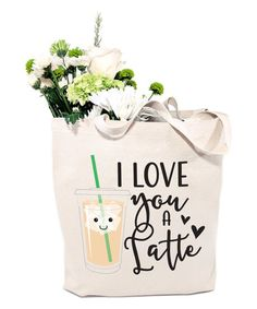 Another great find on #zulily! 'I Love You a Latte' Reusable Market Tote #zulilyfinds