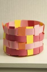 Activities: Make a Basket for Moses 3/16/16~Melis, I used regular weight paper…
