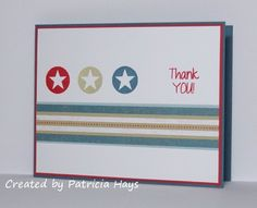 CAS patriotic thank you by PH in VA - Cards and Paper Crafts at Splitcoaststampers
