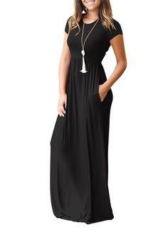 Chanyuhui Women V-Neck Three Quarter Sleeve Long Dress Ladies Elegant Floral Print Vintage A-line Flowy Maxi Dresses