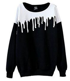 Grunge, Pastel Goth Pullover Sweater