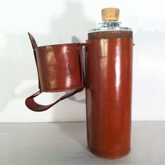 Thermos In Case Leather now featured on Fab. - Hubby would love this!