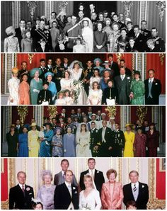 The Monarchist: Weddings of the Queen's children-top to bottom: Princess Anne to Captain Mark Phillips (1973), Prince Charles to Lady Diana Spencer (1981), Prince Andrew to Sarah Ferguson (1988), Prince Edward to Sophie Rhys-Jones (1999)