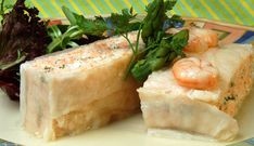 Pastel de salmón y gambas