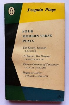 Vintage Penguin Paperback Book, no. 1253: Four Modern Verse Plays.