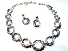 """Nine50 Silver Jewellery - MUST SEE! """"Ovals"""" Necklace and Earring Set-  50cm, $325.00 (http://www.nine50.com.au/must-see-ovals-necklace-and-earring-set-50cm/)"""