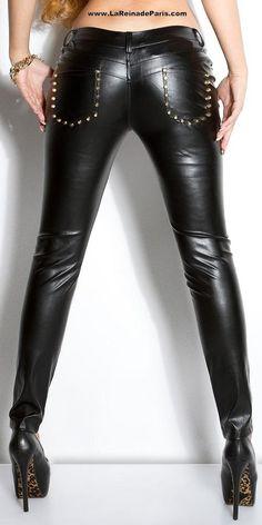 Comprar Pantalones ajustados en piel Kate online Pantalones de mujer baratos 6cb22950fe38