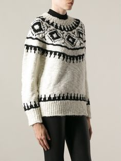 Moncler Fair Isle Sweater - Smets - Farfetch.com