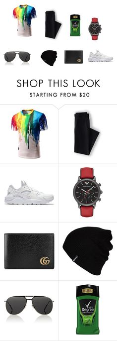 """""""Restaurant"""" by jasmin198 ❤ liked on Polyvore featuring Lands' End, NIKE, Emporio Armani, Gucci, Hurley, Dior Homme, men's fashion and menswear"""